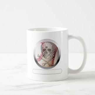 Baseball Skull and Crossbones Classic White Coffee Mug