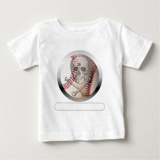 Baseball Skull and Crossbones T-shirt