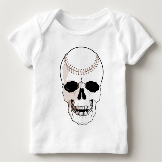 Baseball Skull Baby T-Shirt