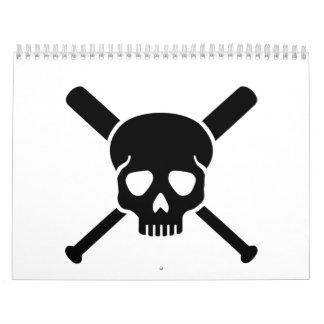 Baseball skull calendar