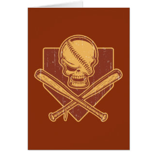 Baseball Skull & Cross Bats Card