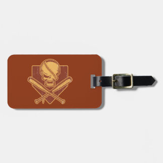 Baseball Skull & Cross Bats Luggage Tag