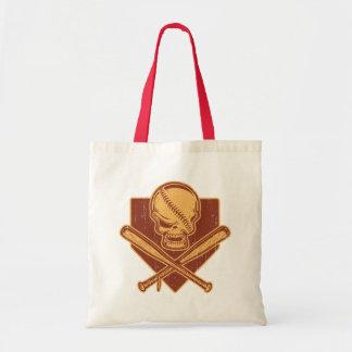 Baseball Skull & Cross Bats Tote Bag