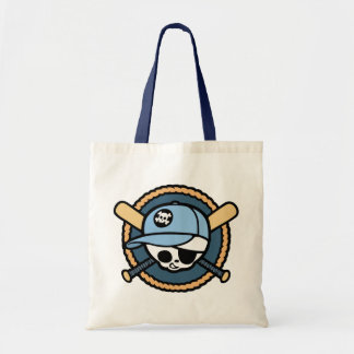 Baseball Skull & Crossbats -boys Budget Tote Bag