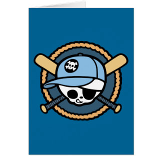Baseball Skull & Crossbats -boys Card