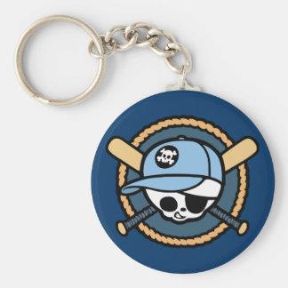 Baseball Skull & Crossbats -boys Keychain