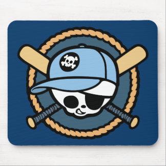 Baseball Skull & Crossbats -boys Mouse Pad
