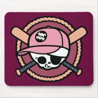 Baseball Skull & Crossbats -girls Mouse Pad