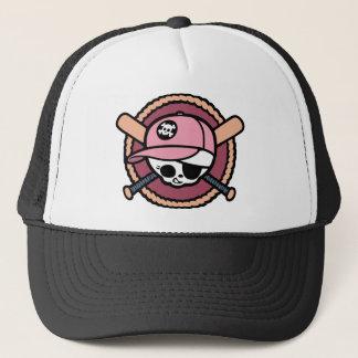 Baseball Skull & Crossbats -girls Trucker Hat