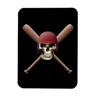Baseball Skull & Crossed Bats Magnet