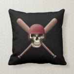 Baseball Skull & Crossed Bats Pillows