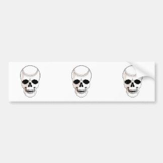 baseball skull head bumper stickers