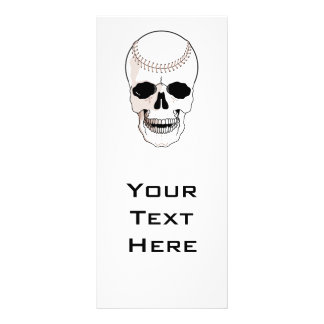 baseball skull head rack card