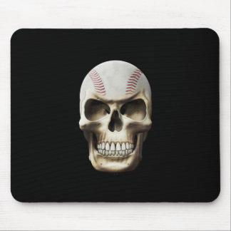 Baseball Skull Mouse Pad