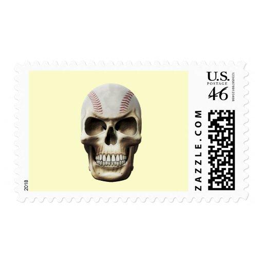 Baseball Skull Stamp