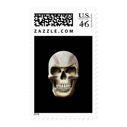 Baseball Skull Postage