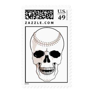 Baseball Skull Postage Stamps