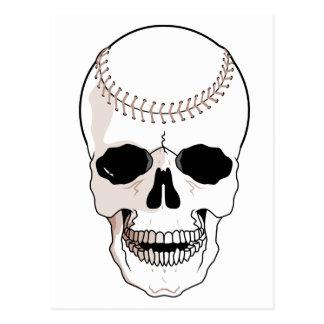 Baseball Skull Postcard