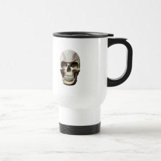Baseball Skull Travel Mug
