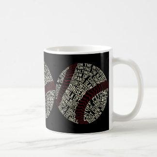 Baseball Slang Words Calligram Coffee Mug