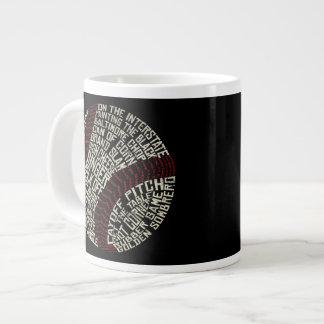 Baseball Slang Words Calligram Giant Coffee Mug
