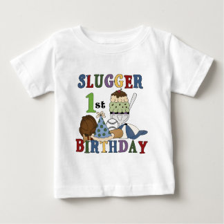 Baseball Slugger 1st Birthday Tshirts and Gifts