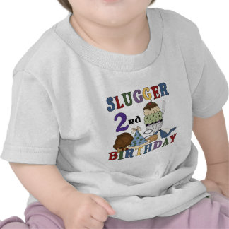 Baseball Slugger 2nd Birthday tshirts and Gifts