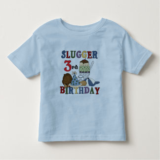 Baseball Slugger 3rd Birthday Tshirts