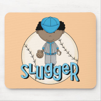 Baseball Slugger African  American Boy Tshirts Mousepads