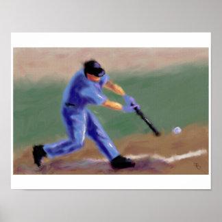 Baseball Slugger Art Poster