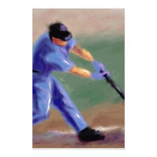 Baseball Slugger Art Stationery