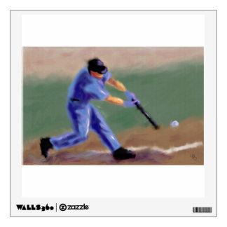 Baseball Slugger Art Wall Sticker