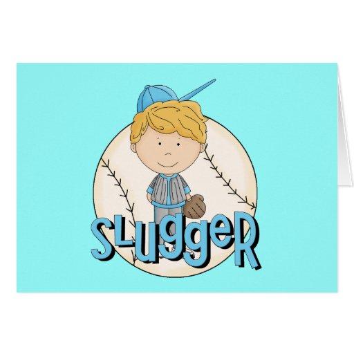 Baseball Slugger T-shirts and Gifts Greeting Cards