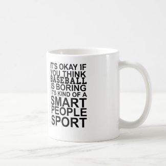 baseball smart people coffee mug