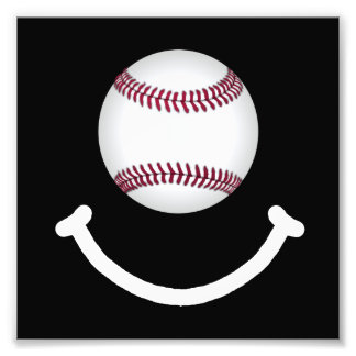 Baseball Smile Photo Print