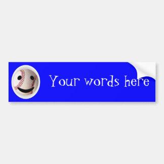 Baseball Smiley- add YOUR words Car Bumper Sticker