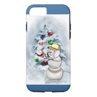 Baseball Snowman Christmas iPhone 8/7 Case
