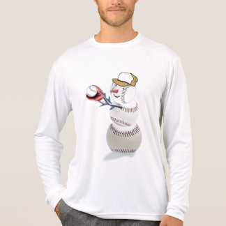 Baseball Snowman Christmas T-Shirt