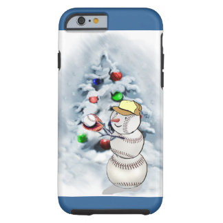 Baseball Snowman Christmas Tough iPhone 6 Case