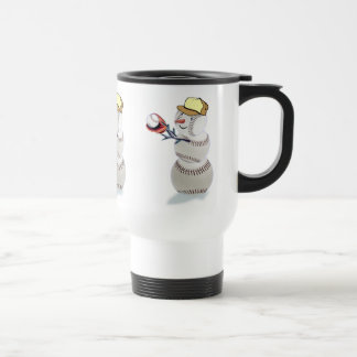 Baseball Snowman Christmas Travel Mug