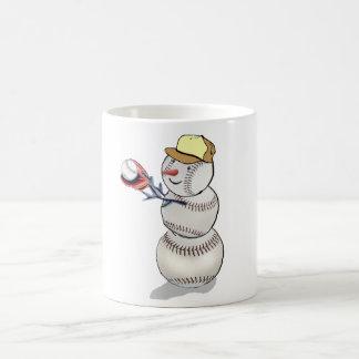 Baseball Snowman Coffee Mug