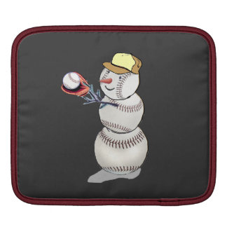 Baseball Snowman iPad Sleeve