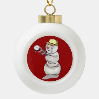 Baseball Snowman Ornaments