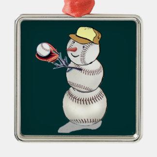 Baseball Snowman Christmas Ornaments