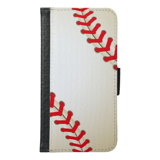 Baseball Softball Ball Samsung Galaxy S6 Wallet Case