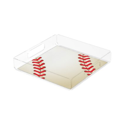 Baseball Softball Ball Square Serving Trays