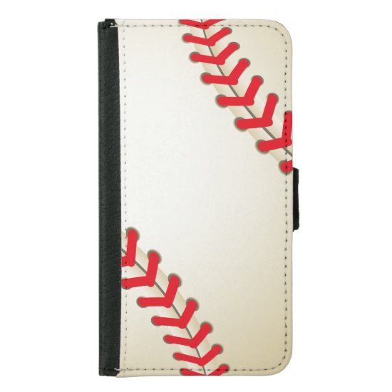 Baseball Softball Ball Wallet Phone Case For Samsung Galaxy S5