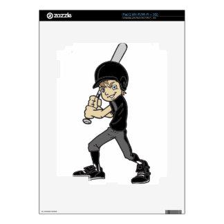 BASEBALL / SOFTBALL BOY BATTING DECAL FOR iPad 2