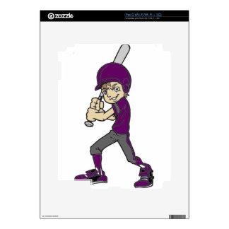 BASEBALL / SOFTBALL BOY BATTING DECAL FOR THE iPad 2