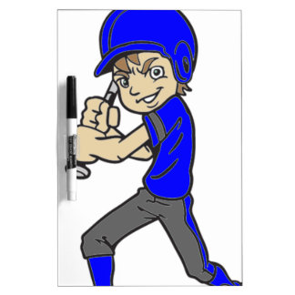 BASEBALL / SOFTBALL BOY BATTING Dry-Erase BOARD
